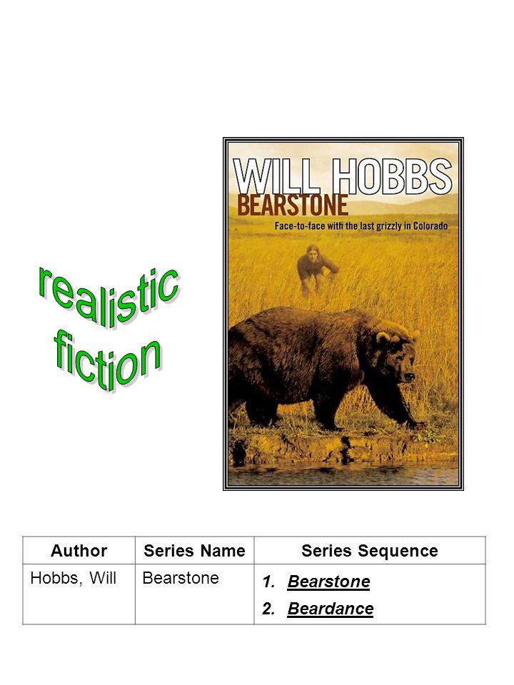 AuthorSeries NameSeries Sequence Hobbs, WillBearstone 1.Bearstone 2.Beardance