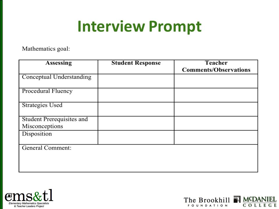 Interview Prompt