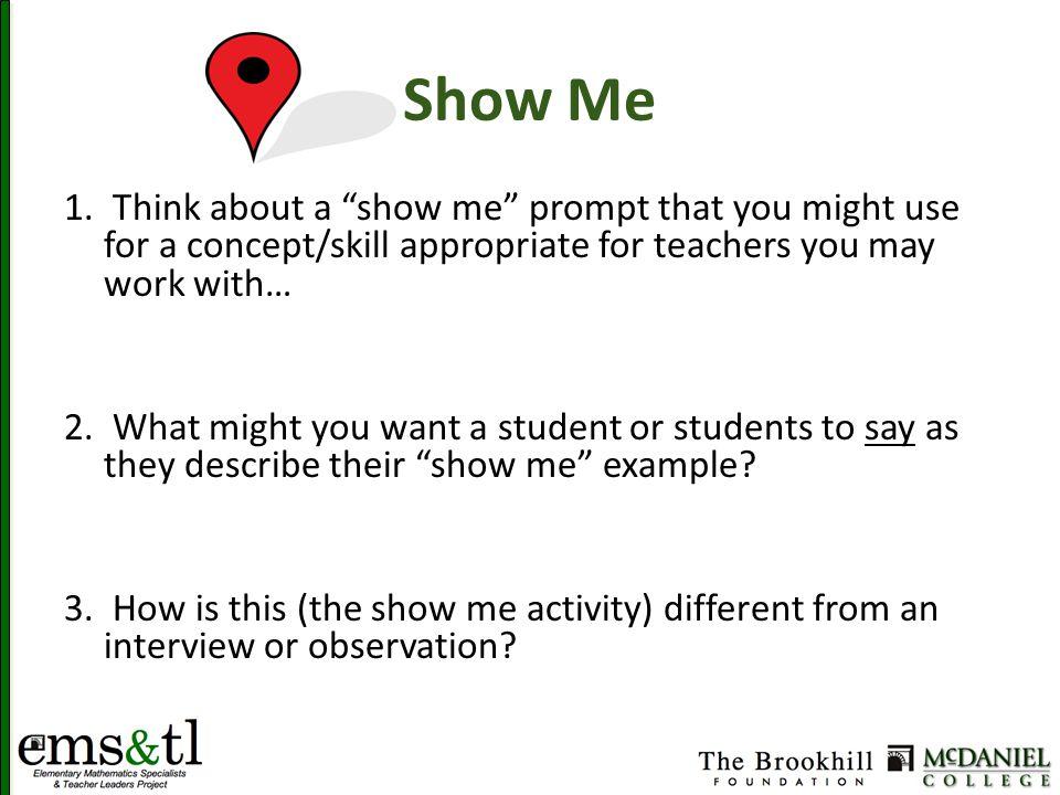 Show Me 1.