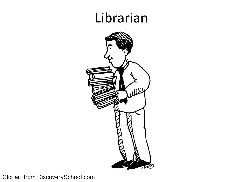 Librarian Clip art from DiscoverySchool.com