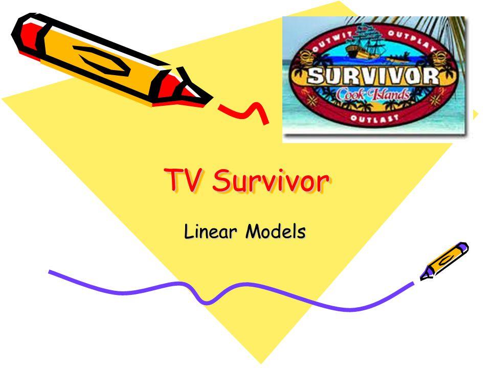 You are a contestant on a TV Survivor show.