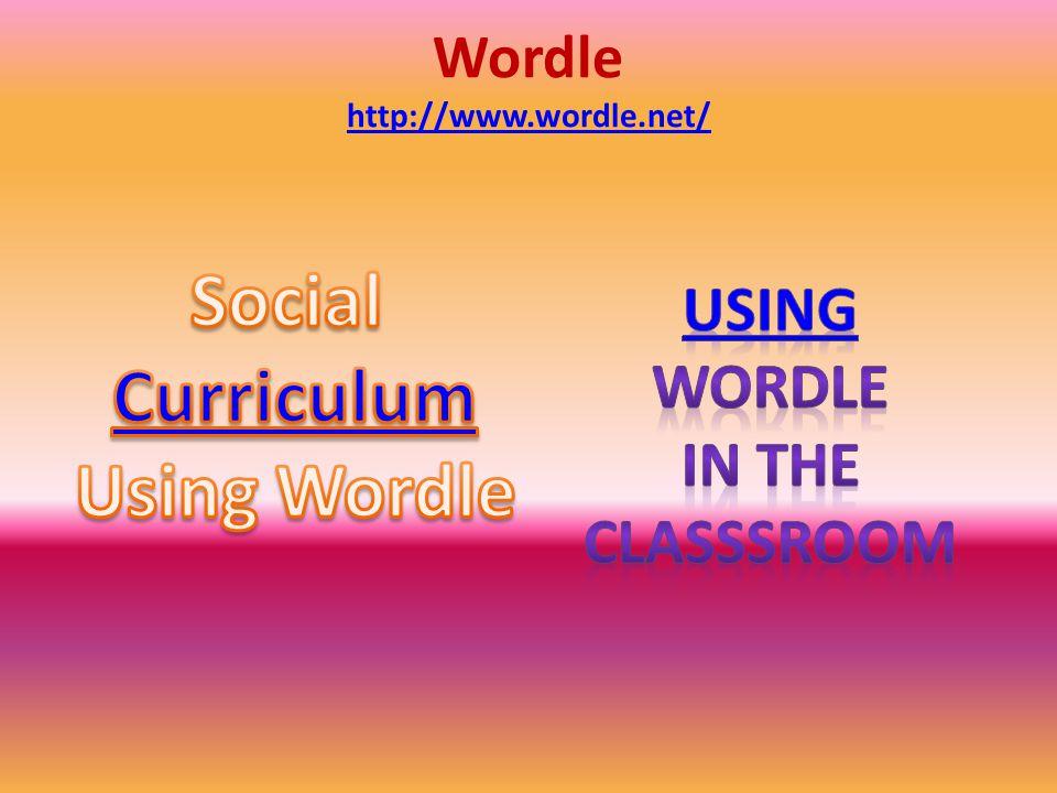 Wordle http://www.wordle.net/ http://www.wordle.net/