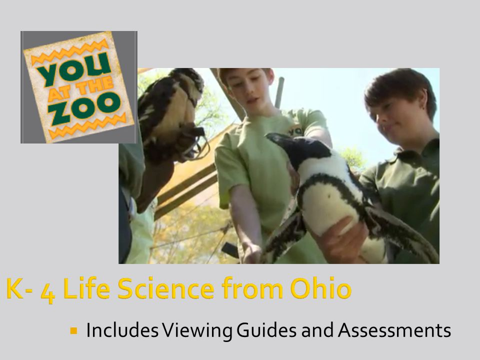 K- 4 Life Science from Ohio  Includes Viewing Guides and Assessments