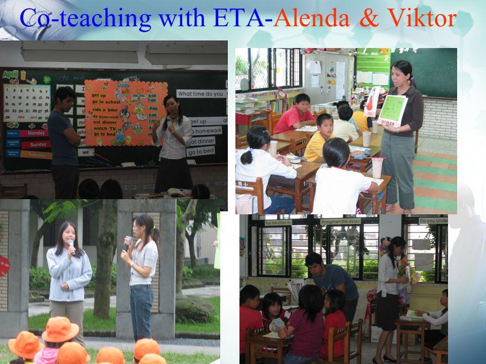 Co-teaching with ETA-Alenda & Viktor