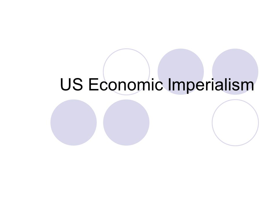 US Economic Imperialism