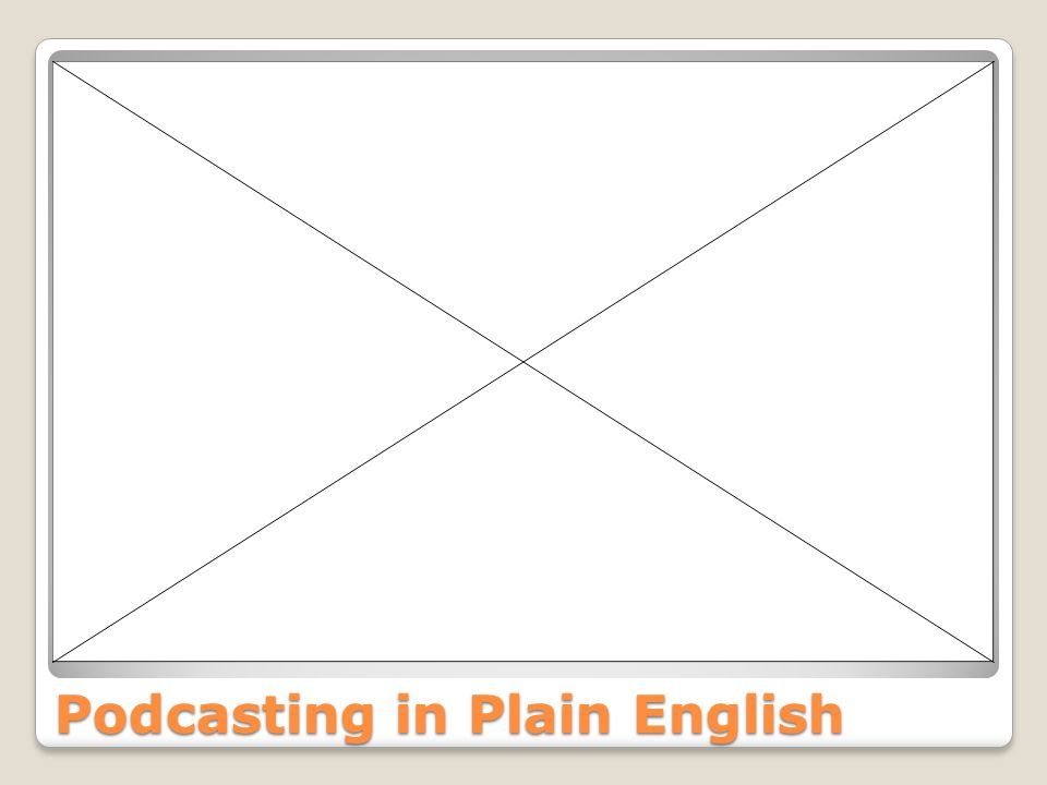 Podcasting in Plain English