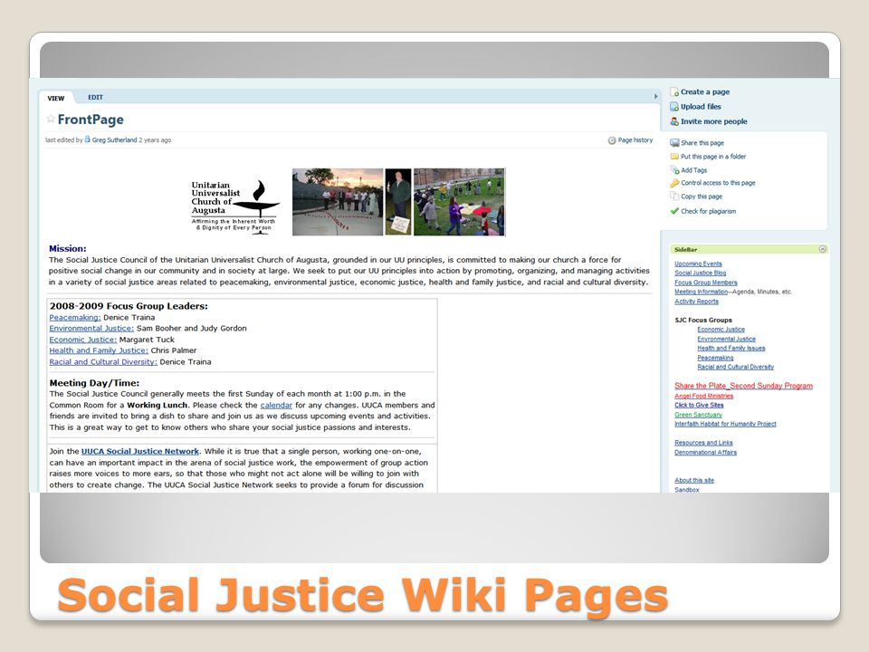 Social Justice Wiki Pages