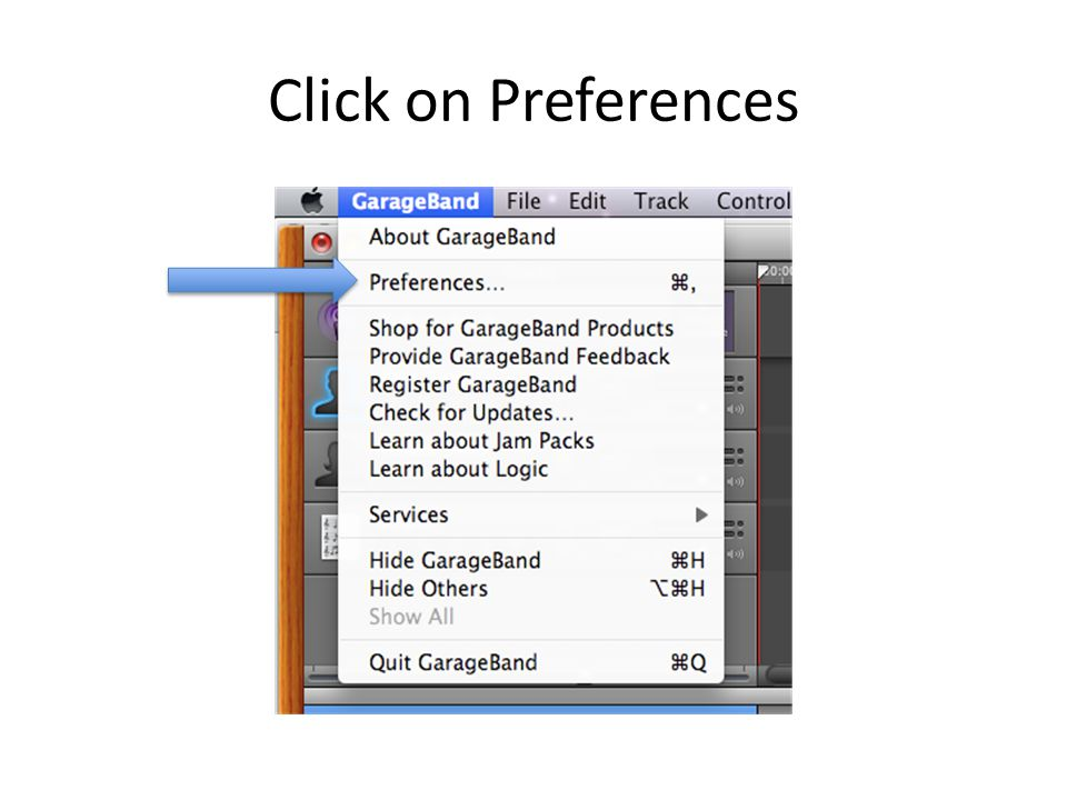 Click on Preferences