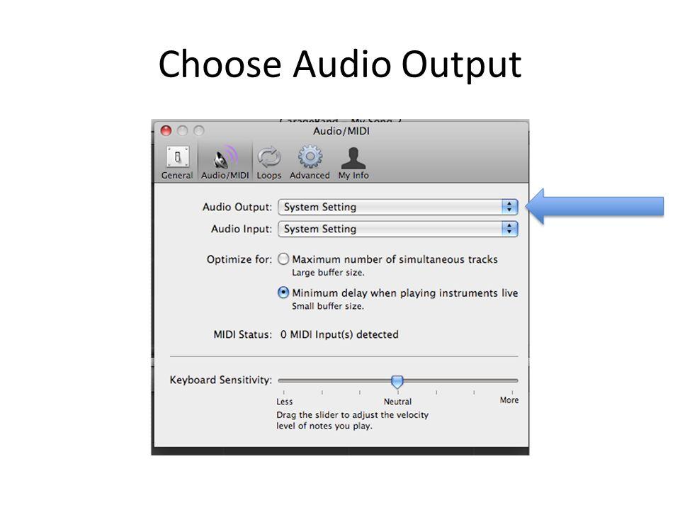 Choose Audio Output
