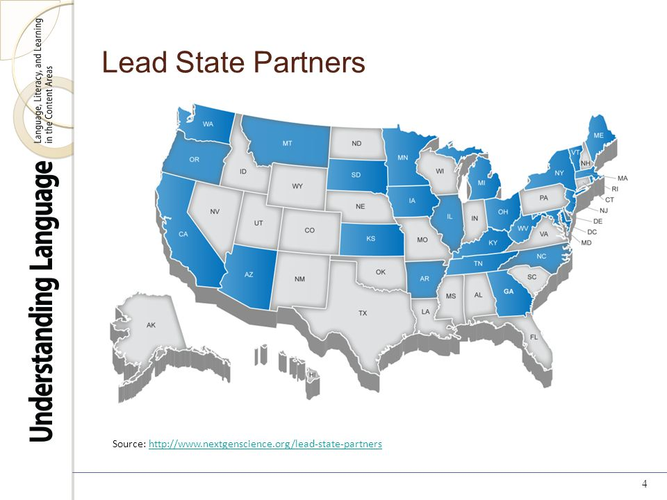 Lead State Partners 4 Source: http://www.nextgenscience.org/lead-state-partnershttp://www.nextgenscience.org/lead-state-partners