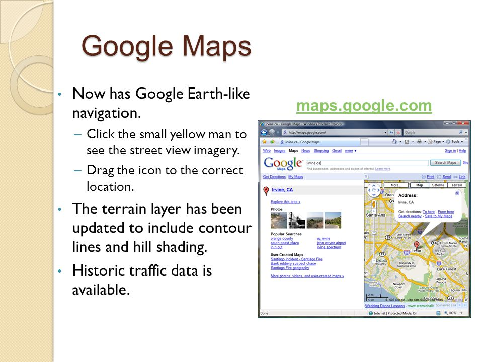 GOOGLE ON THE ROAD