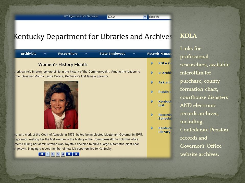 Offers OPA, the Online Public Access resource - the online public portal to the Archives' records and information about the records.
