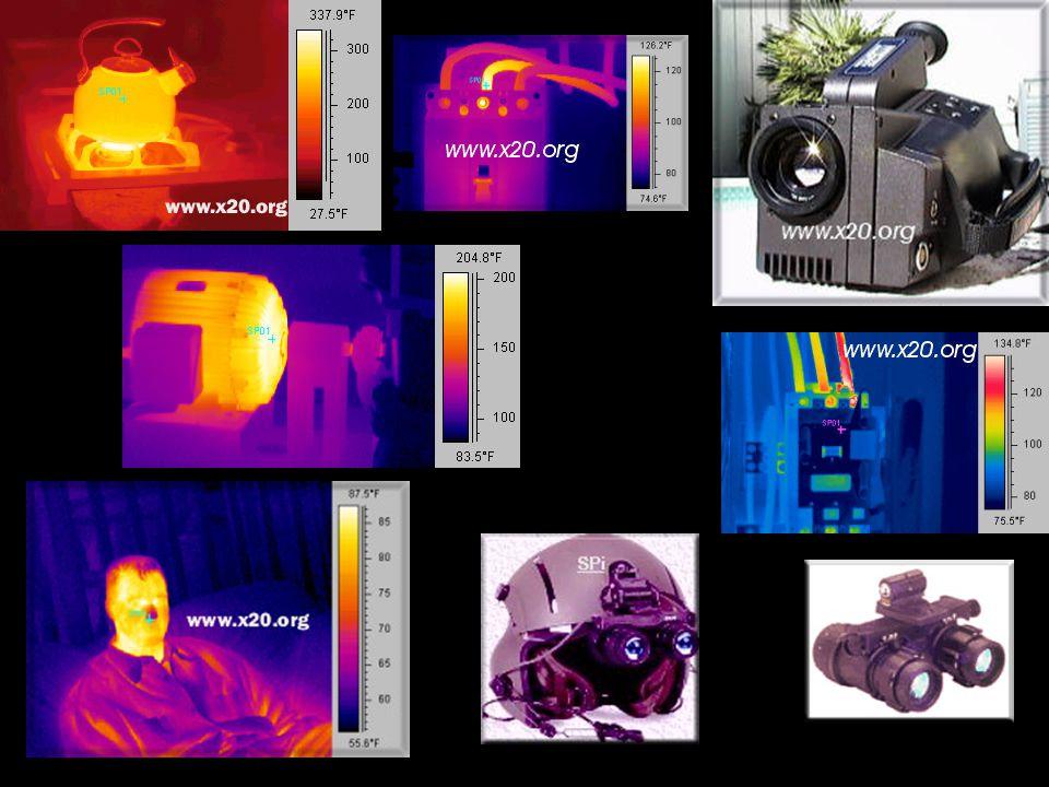 Manufacturer/typesize (pixel)technologypixel pitch Hawaii1k x 1kHgCdTe18.5 u m Aladdin1k x 1kInSb27 u m Hawaii2k x 2kHgCdTe18.0 Infrared array detectors HgCdTe (Mercury-Cadmium-Telluride) InSb (Indium Antimonide)