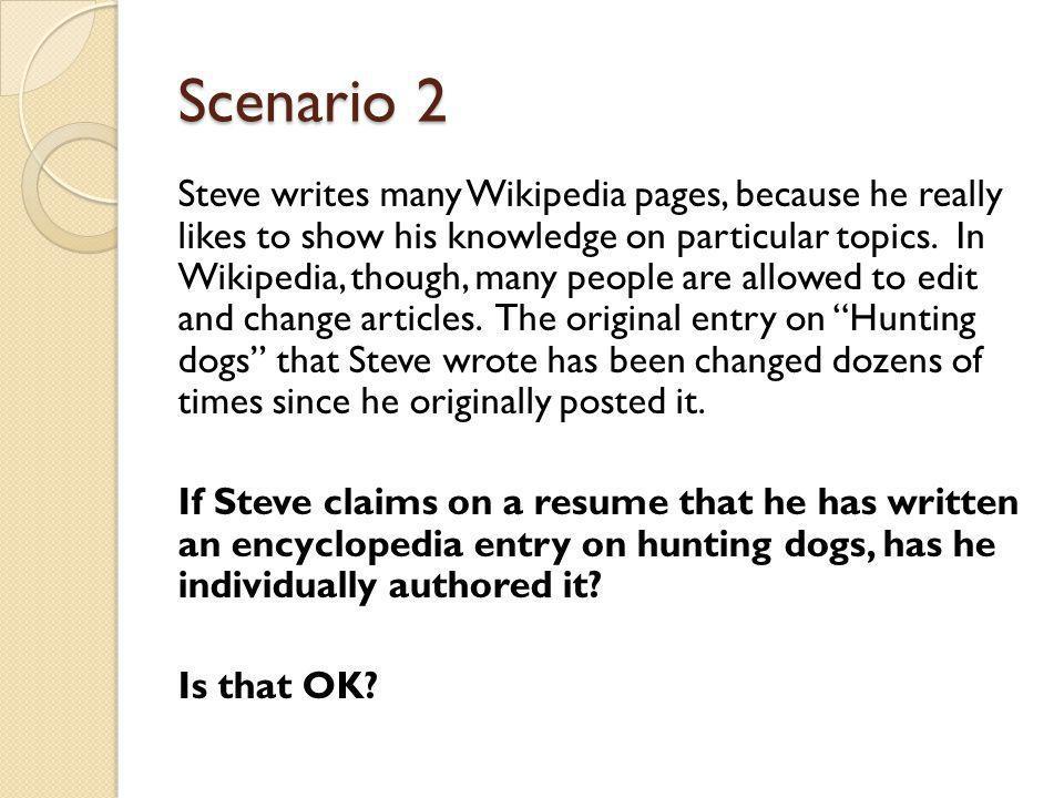 Scenario 3 Jeff writes a blog.