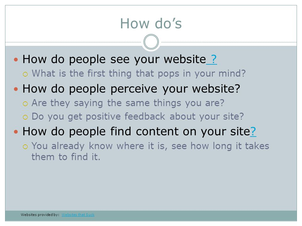 What to think about Is my site distracting users from what they want?.