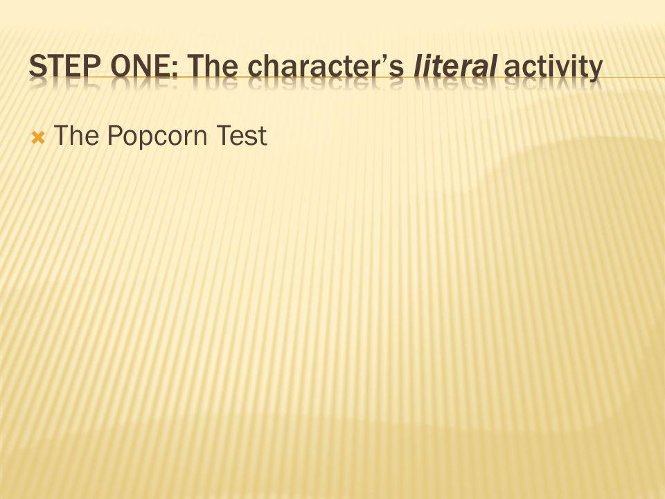  The Popcorn Test