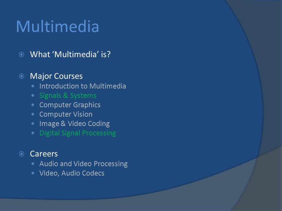 Multimedia  What 'Multimedia' is.