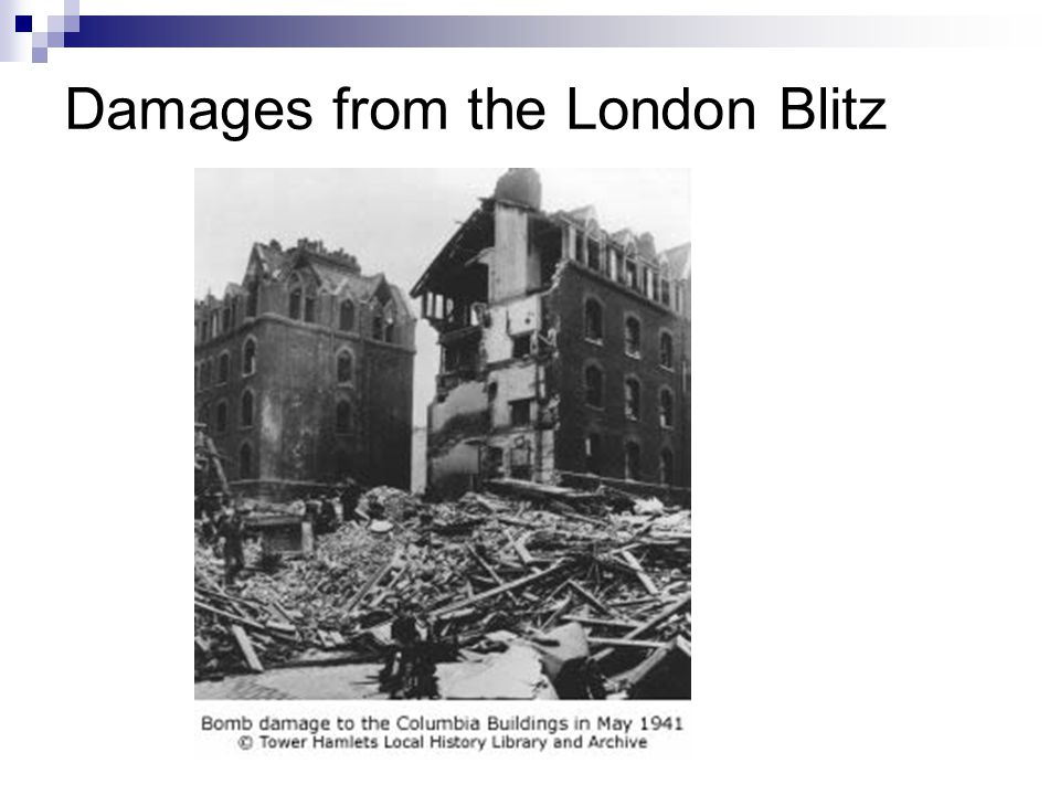 Damages from the London Blitz