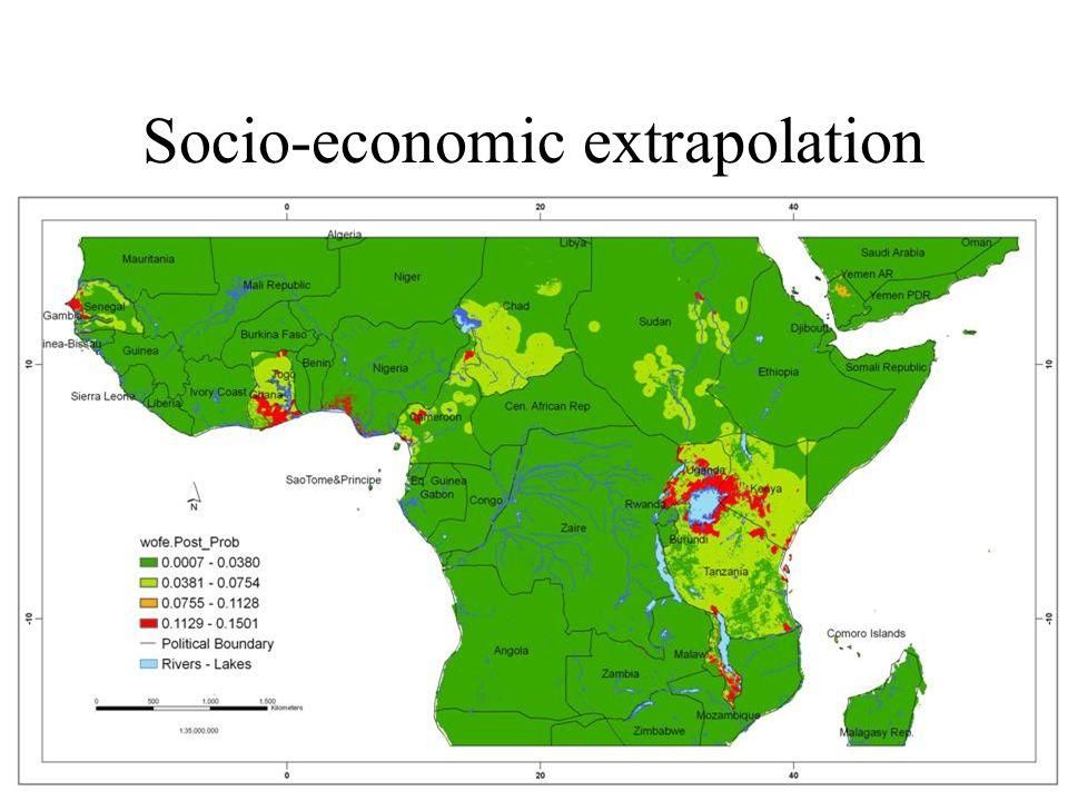 Socio-economic extrapolation