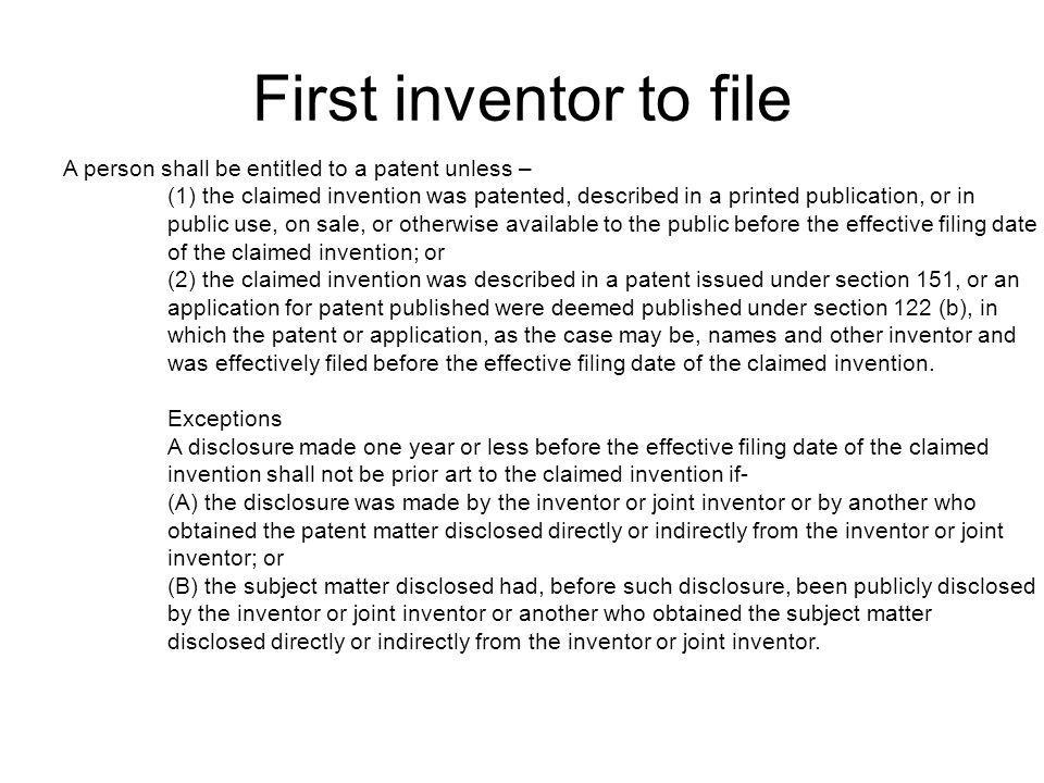 Using Patents as a Research Tool Keep your friends close, and your enemies closer -Sun Tzu Research the USPTO database to find out the state of your particular technology www.uspto.gov Can locate issued patents and printed publications (use pat2pdf.org to print patents) Can save a lot of time and effort
