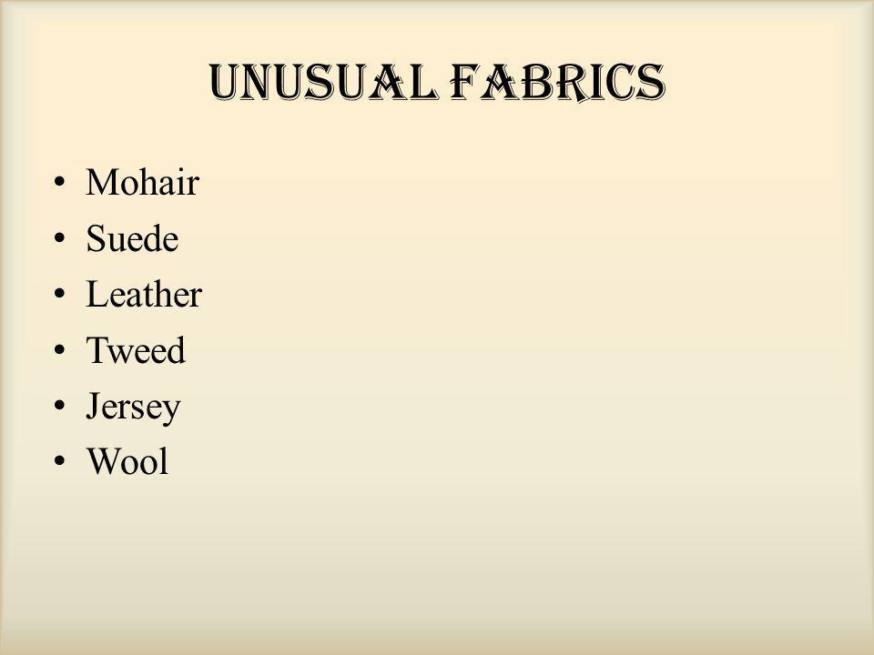 Unusual Fabrics Mohair Suede Leather Tweed Jersey Wool
