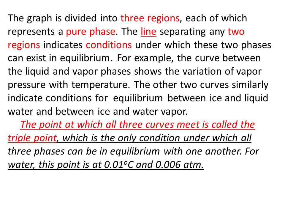 2.6 Phase Diagrams: The overall relationships among the solid, liquid, and vapor phases are best represented in a single graph known as a phase diagra