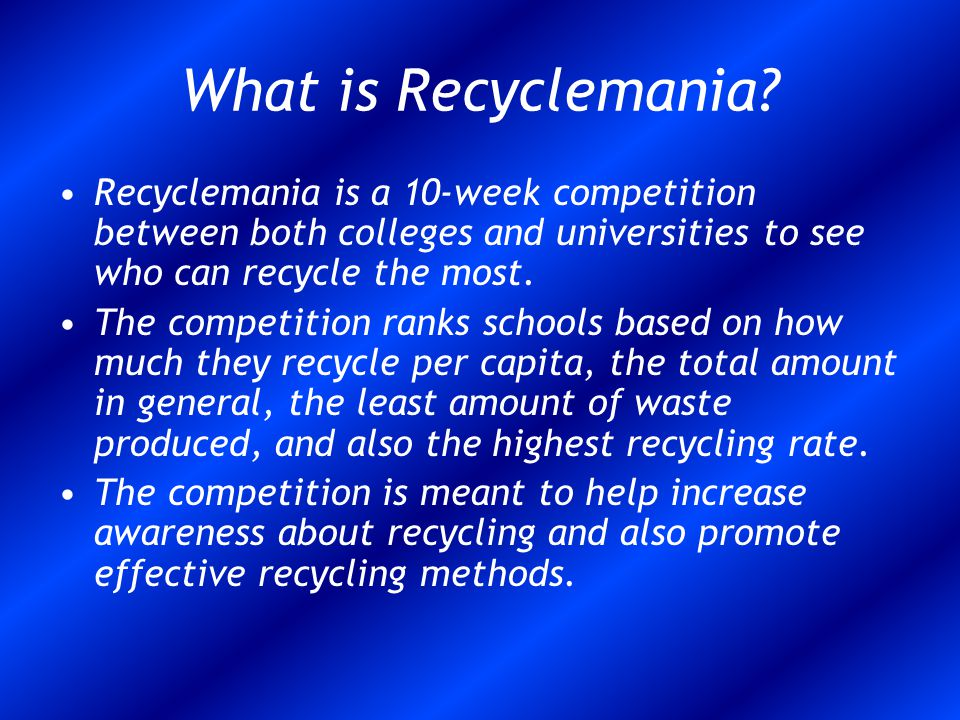 What is Recyclemania.