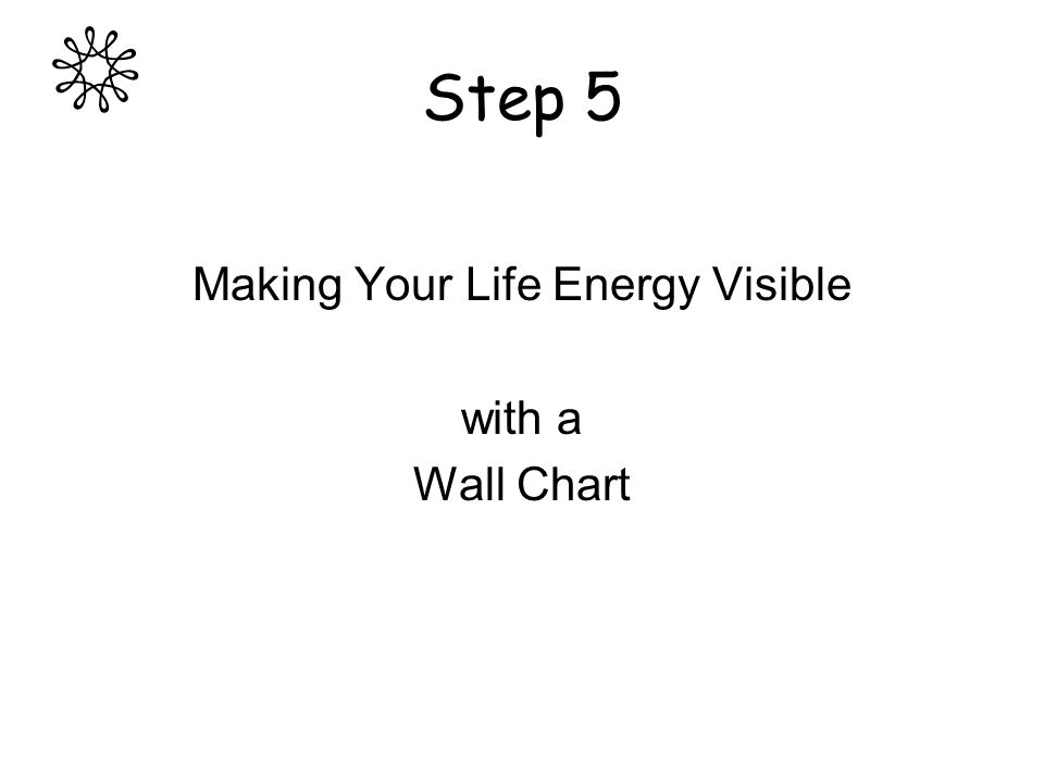 Step 5 Making Your Life Energy Visible with a Wall Chart