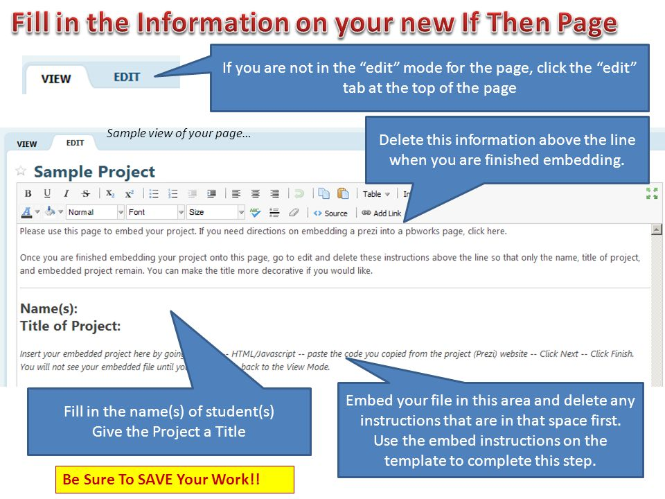 Fill in the name(s) of student(s) Give the Project a Title Embed your file in this area and delete any instructions that are in that space first.