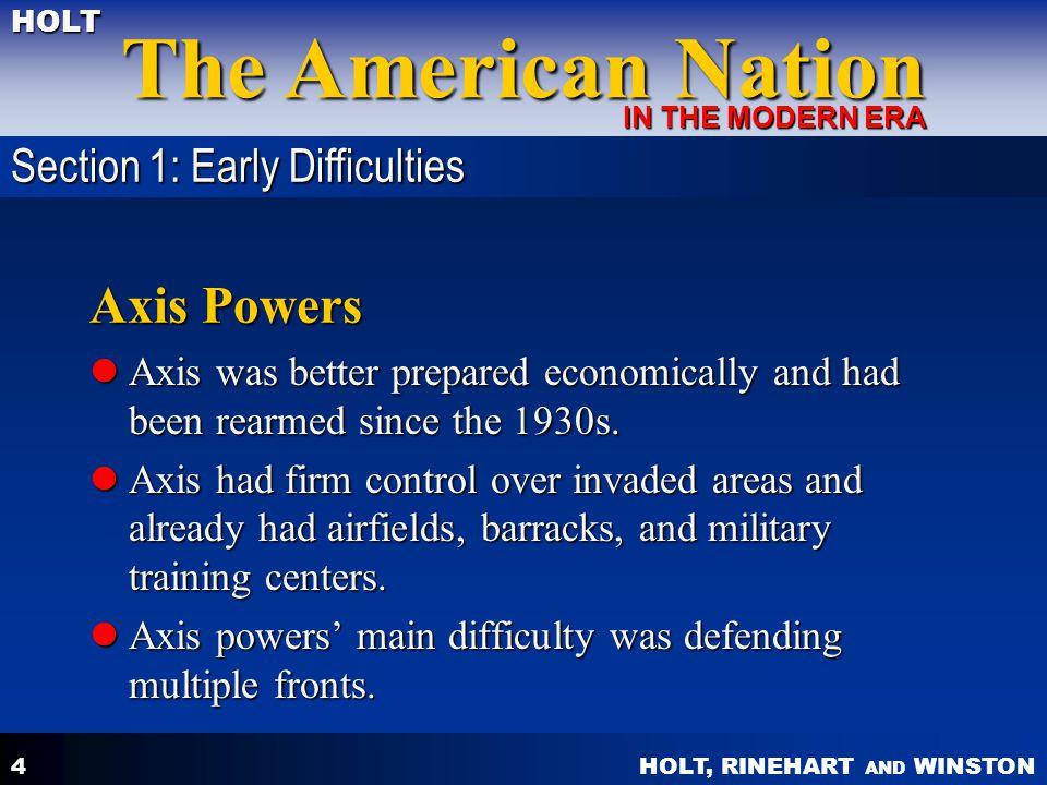 HOLT, RINEHART AND WINSTON The American Nation HOLT IN THE MODERN ERA 5 U.S.