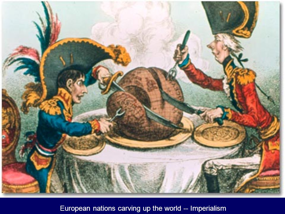 European nations carving up the world -- Imperialism