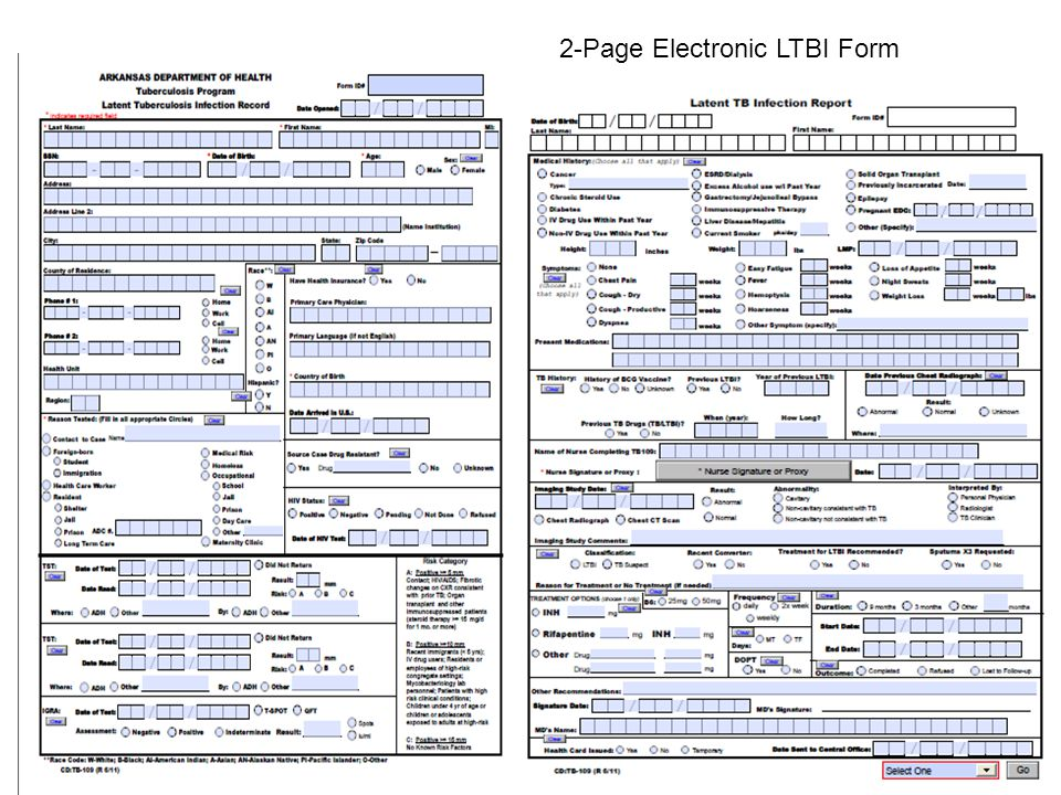 2-Page Electronic LTBI Form