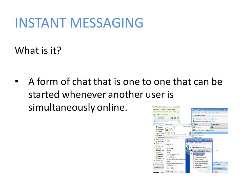 INSTANT MESSAGING What is it.