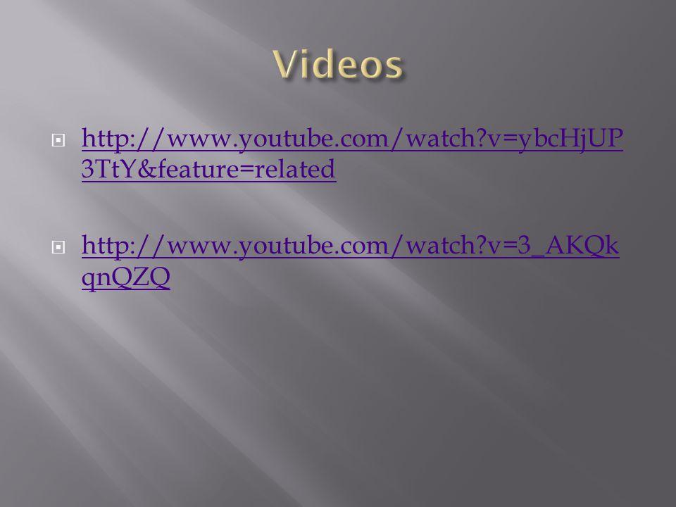  http://www.youtube.com/watch?v=ybcHjUP 3TtY&feature=related http://www.youtube.com/watch?v=ybcHjUP 3TtY&feature=related  http://www.youtube.com/watch?v=3_AKQk qnQZQ http://www.youtube.com/watch?v=3_AKQk qnQZQ