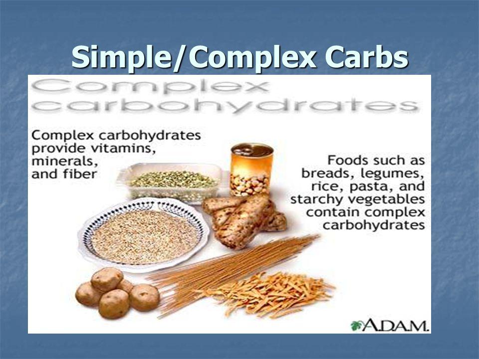 Simple/Complex Carbs