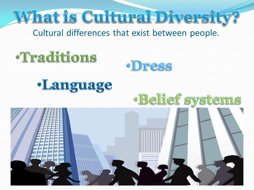 Cultural differences that exist between people.