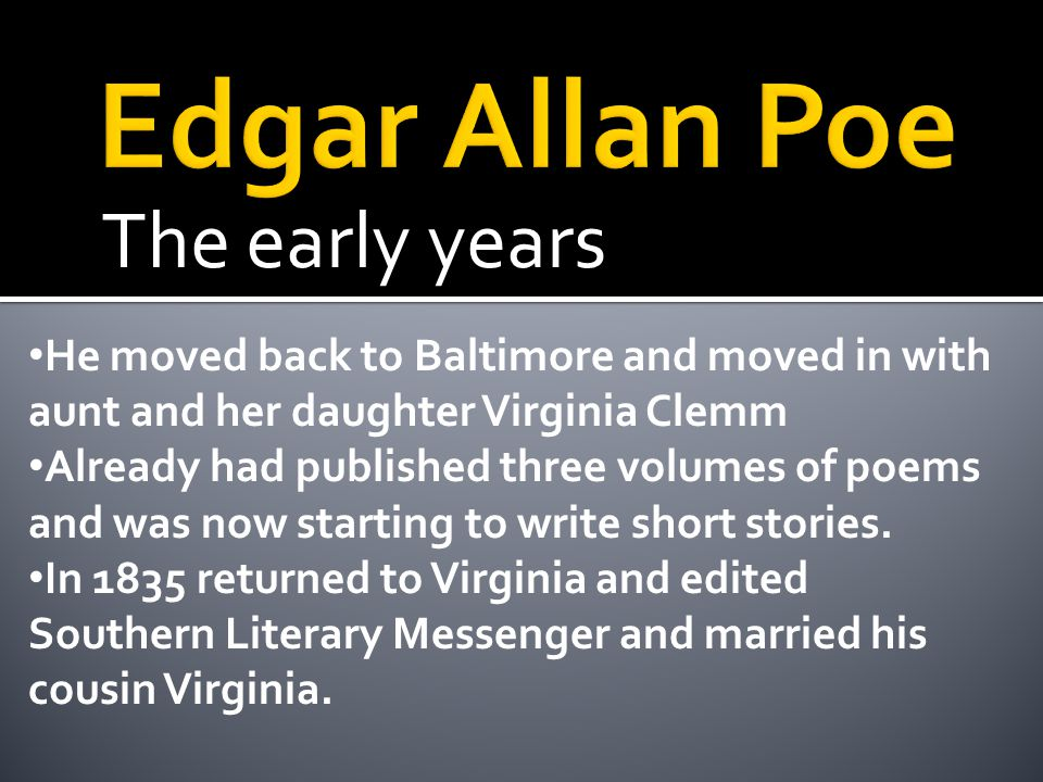 The writing years The literary world was centered in Boston, New York, and Philadelphia.