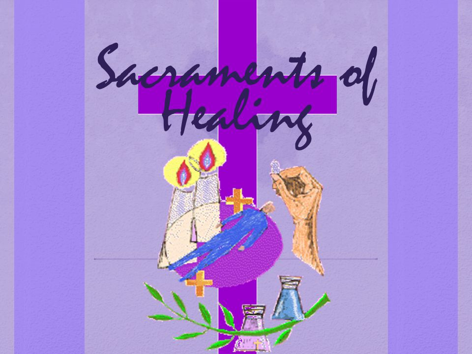 Anointing: the hands and forehead of the sick person are anointed with olive oil.