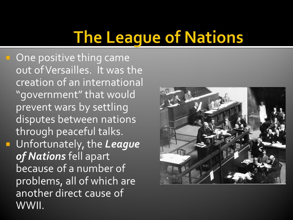1.The League did not include every nation. Nations could choose to join or not.