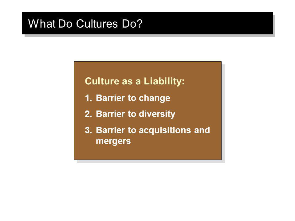 What Do Cultures Do.