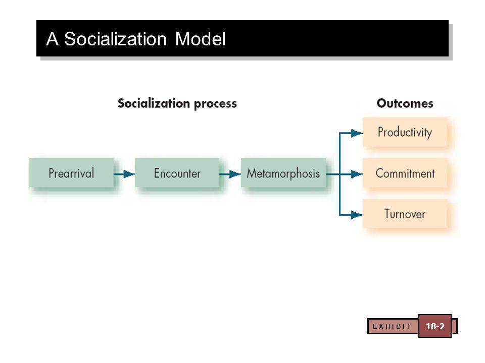 A Socialization Model E X H I B I T 18-2