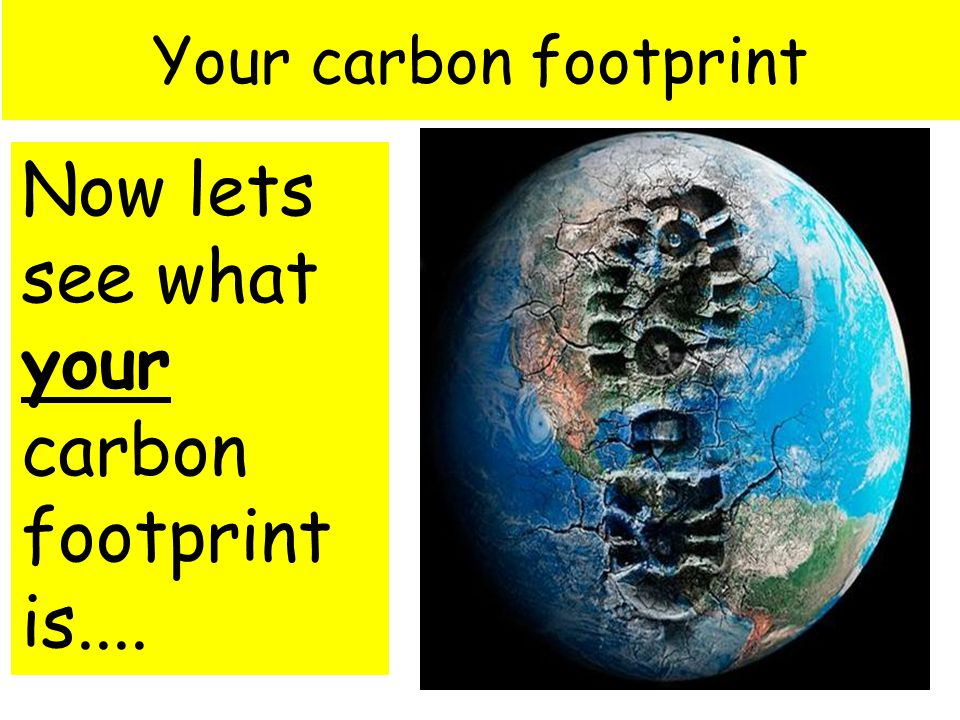 Your carbon footprint Now lets see what your carbon footprint is....