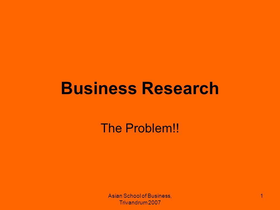 Asian School of Business, Trivandrum 2007 2 Principles of a good report Very objective and unbiased Provides a whole picture Easy to read and comprehend Refers a lot of reliable data.