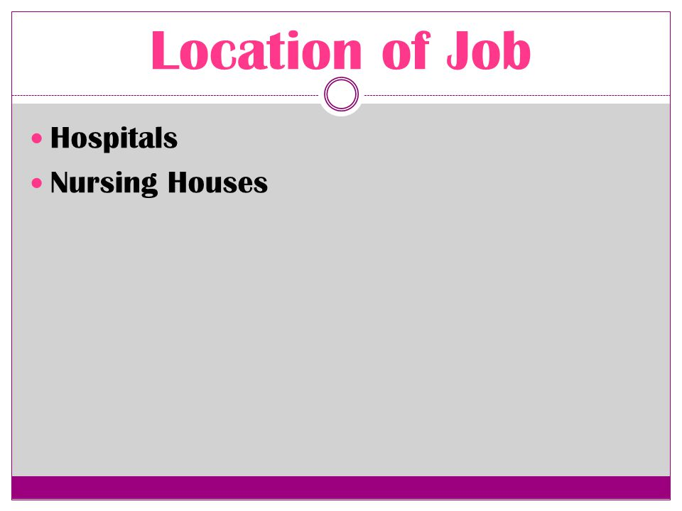 Job Description Record patients medical histories and symptoms Help perform diagnostic tests and analyze results Operate medical machinery Administer treatment and medications, and Help with patient follow-up and rehabilitation