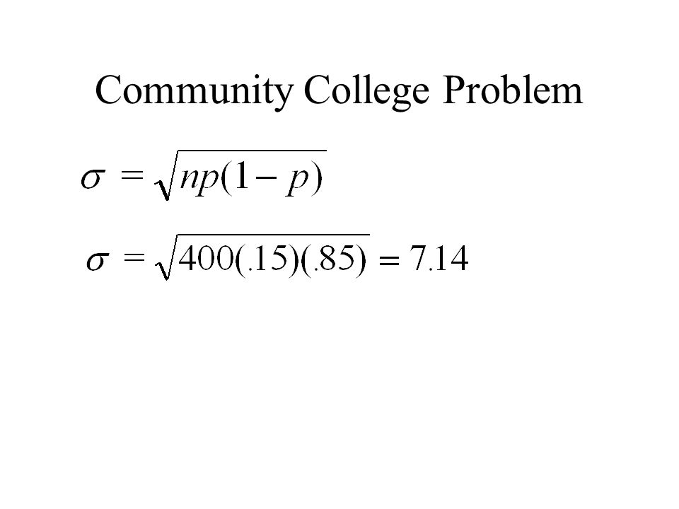 Community College Problem