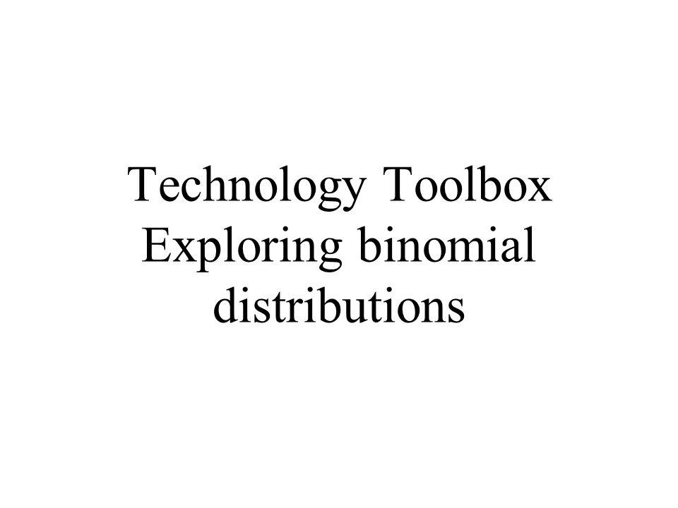 Technology Toolbox Exploring binomial distributions