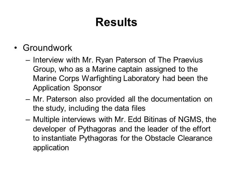 Results Groundwork –Interview with Mr. Ryan Paterson of The Praevius Group, who as a Marine captain assigned to the Marine Corps Warfighting Laborator