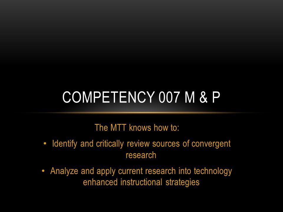 (McDonald, 2012) Current Research Topics RESULT = ???
