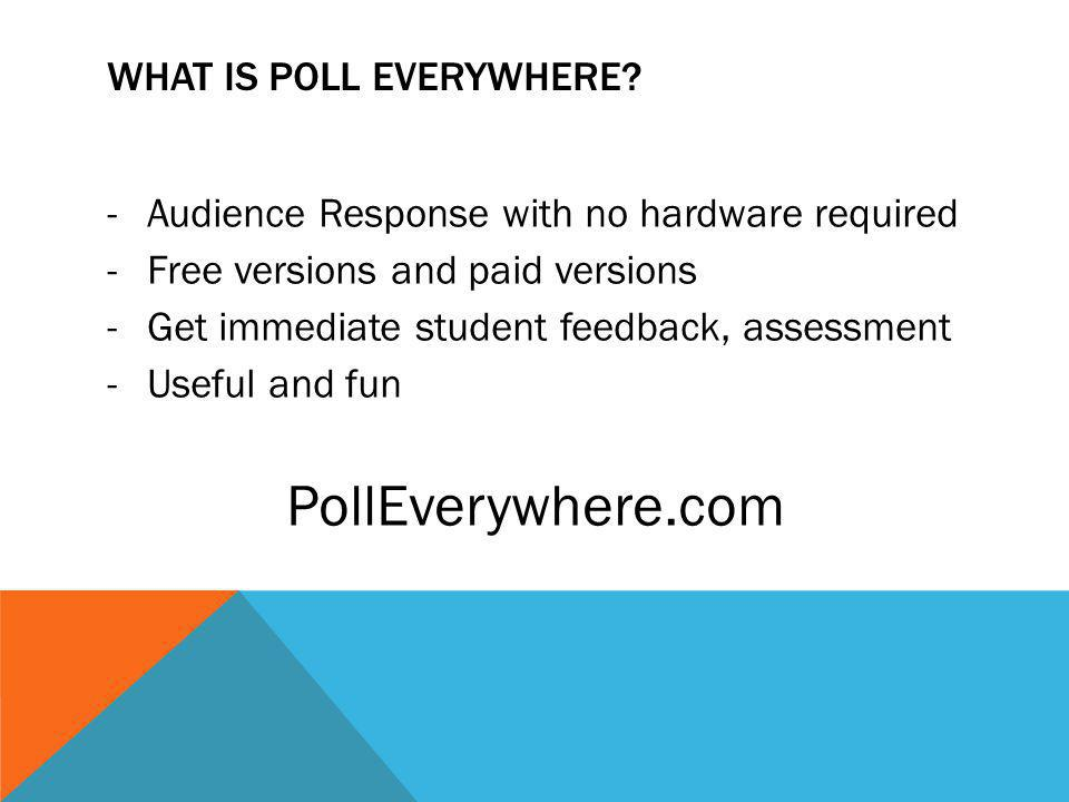 WHAT IS POLL EVERYWHERE.