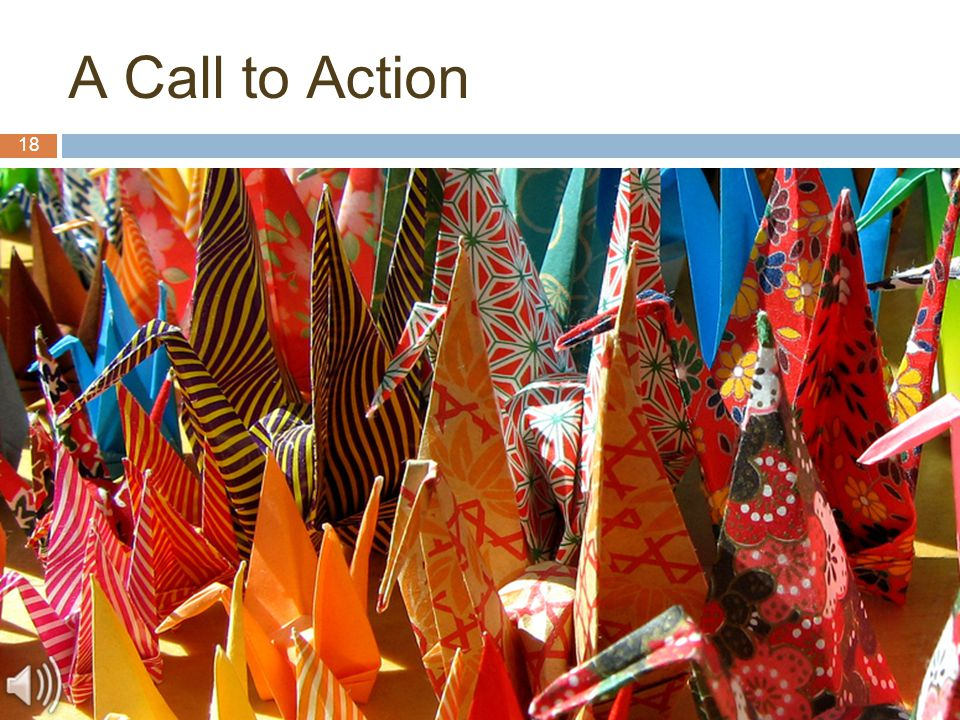 18 A Call to Action
